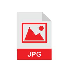 jpg format file vector image