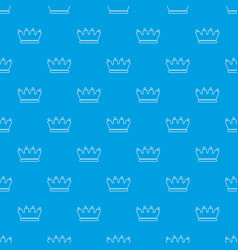 Line crown pattern seamless blue vector
