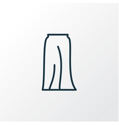 Long skirt icon line symbol premium quality vector