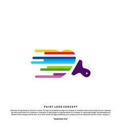 love paint logo design concept colorful heart vector image