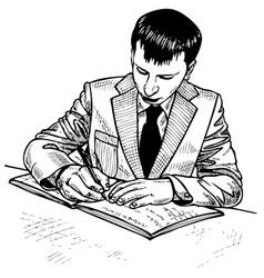 man signs vector image