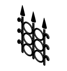 metal fence icon simple black style vector image