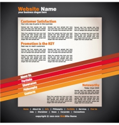 modern artistic web design template vector image vector image