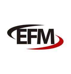 Modern logo solution letter wfm vector
