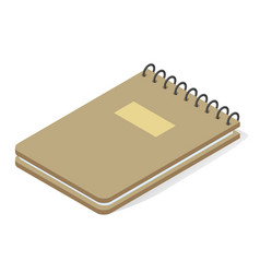 notepad vertical spring isometric icon stationery vector image