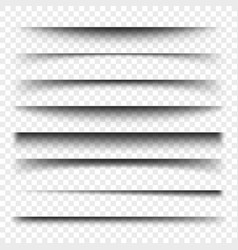 page divider with transparent shadows isolated vector image