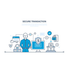 payments security of deposits and information vector image