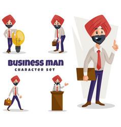 Punjabi business man character set vector