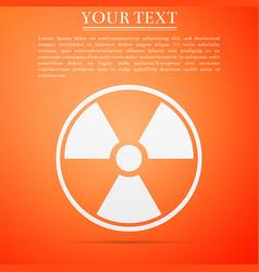 Radioactive icon isolated on orange background vector