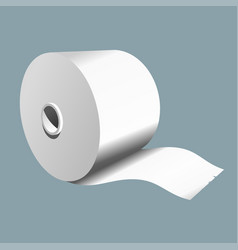 roll paper on a colored background vector image