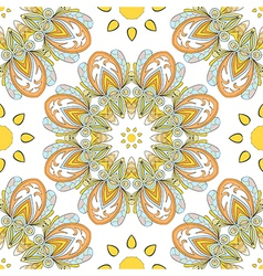 round seamless pattern vector image