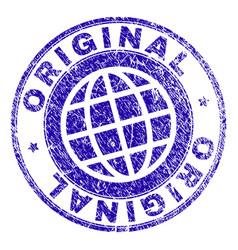 scratched textured original stamp seal vector image