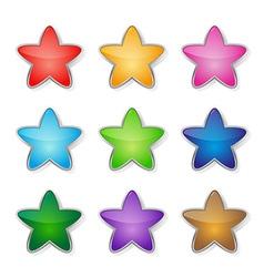 Set multicolored stars vector