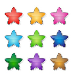 Set of multicolored stars vector image