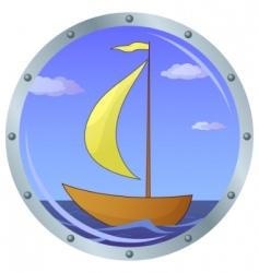 ship in a window vector image