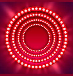 Show light circle red background vector