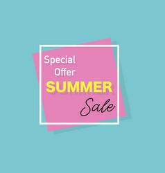 Summer banner special offer stylish design vector