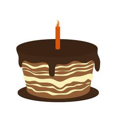 Sweet cake icon vector
