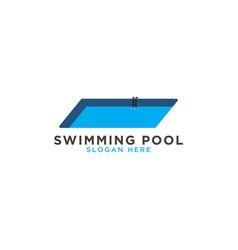 Swimming pool logo template vector