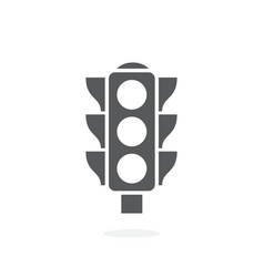 traffic light icon on white background vector image