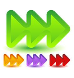 Triple 3 arrows in more colors locate fast vector