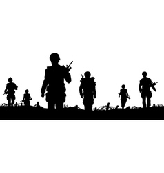 troops foreground vector image vector image