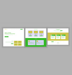 Website design template business vector