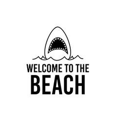 Welcome to beach design vector