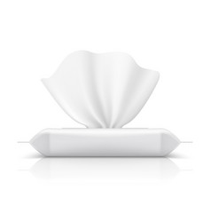 wet wipes flow pack batissue realistic vector image