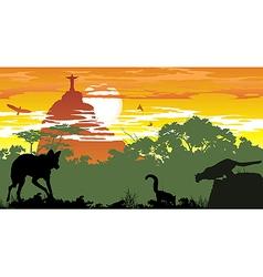 Wild animals brazilian woods vector