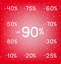 Winter discounts sale black friday vector