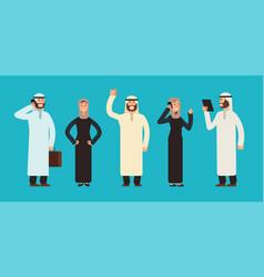 arabic businesswomen and businessmen group arab vector image vector image