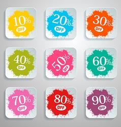 Discount Splash - Paper Labels Set vector image vector image