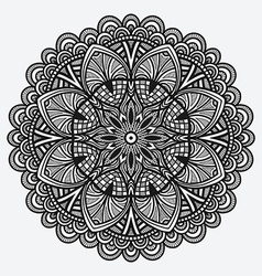 floral ornament circular monochrome pattern vector image vector image