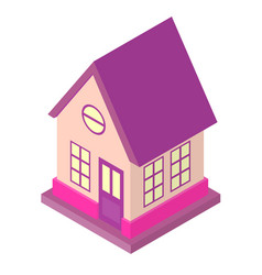 isometric house low poly design suburb 3d building vector image vector image