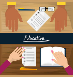 people study to present the test vector image vector image