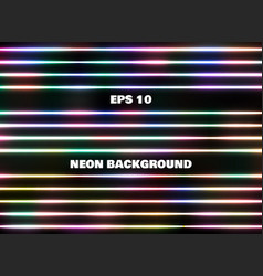 simple classic abstract colorful neon line vector image
