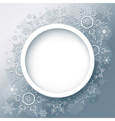 Winter background abstract with snowflakes vector image vector image