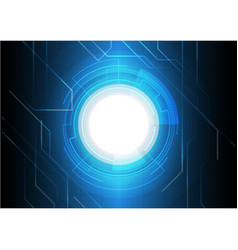 Dark blue electronic technology background vector