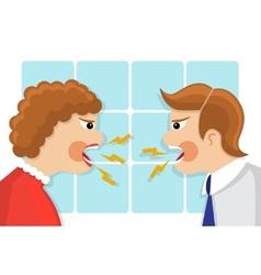 family quarrel vector image