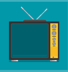 flat icon retro tv vector image