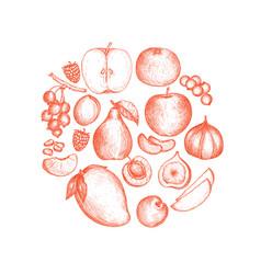 Healthy vegan food hand drawn background vector