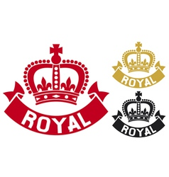 royal label vector image