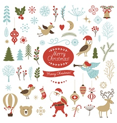 Set of christmas graphic elements vector