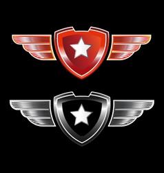 Shield star vector image vector image