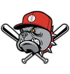 bulldog as a baseball mascot vector image