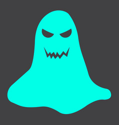 Ghost glyph icon halloween and scary horror sign vector