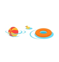Inflatable Toys For Swimming In The Pool vector image