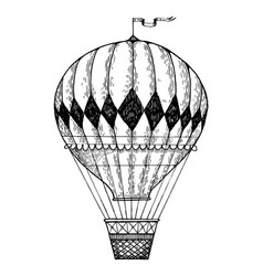 vintage air balloon engraving style vector image vector image