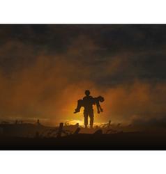war casualty vector image vector image